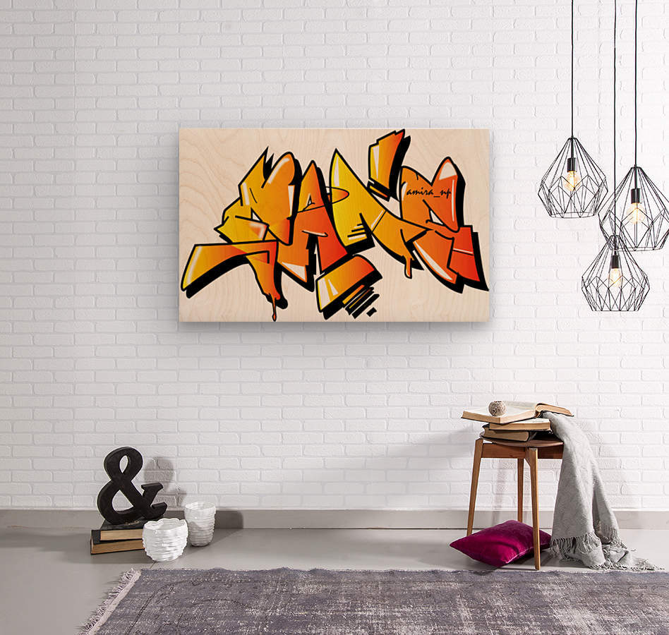 gang  Wood print