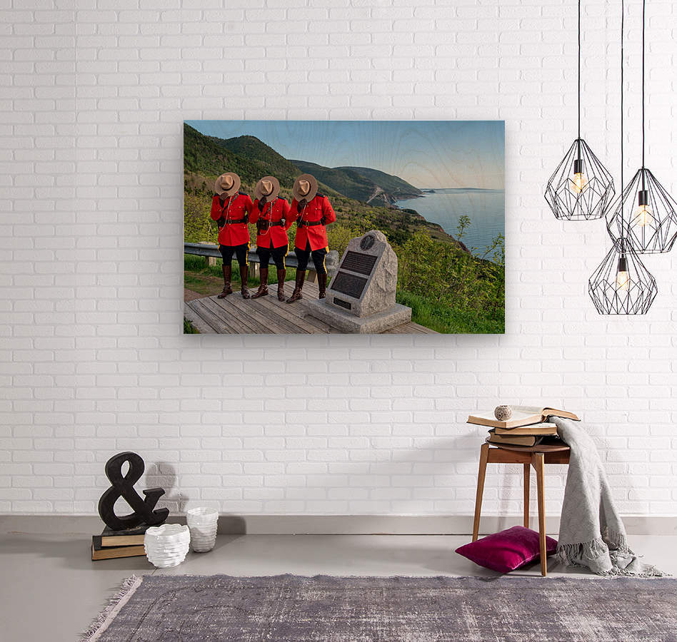 Respect and Honour - RCMP on French Mountain  Wood print
