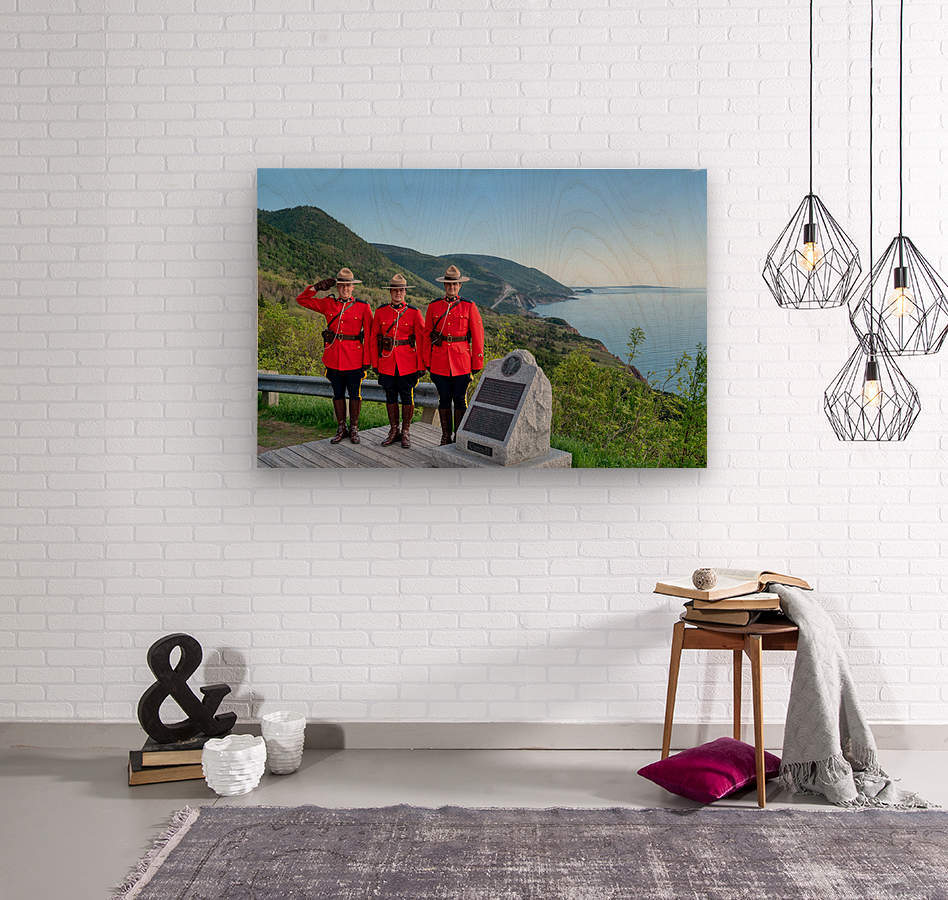 RCMP on French Mountain  Wood print