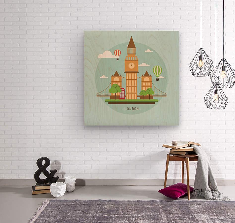 london watch landmark england  Wood print