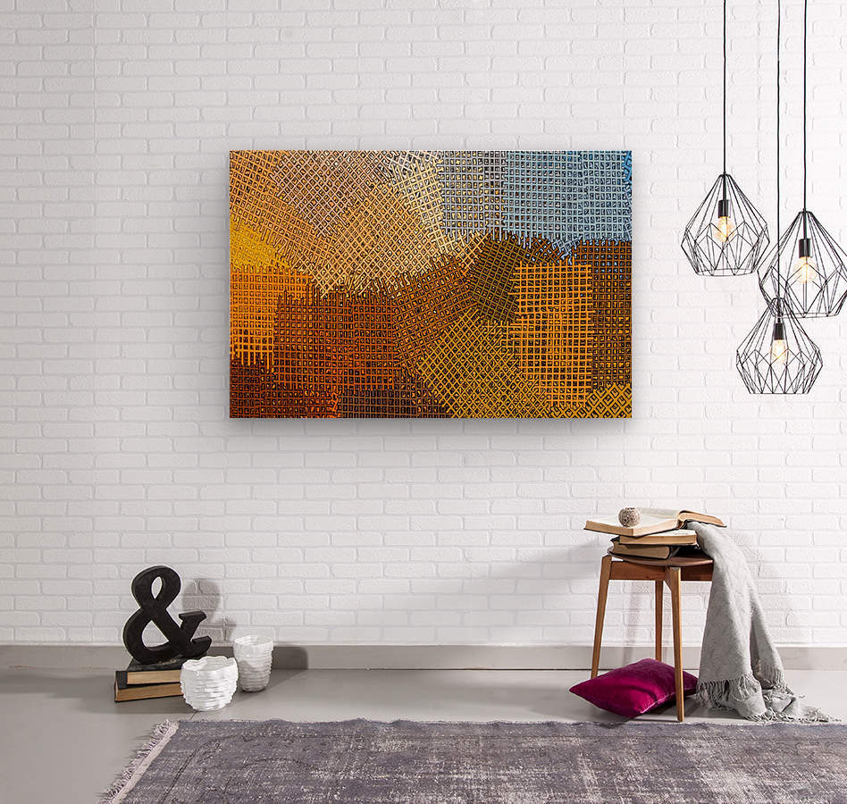 color colors abstract yellow brown  Wood print