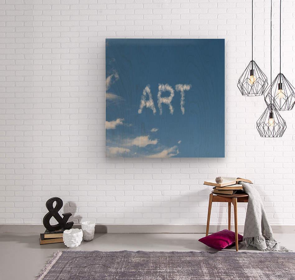 Artist Sky  Wood print