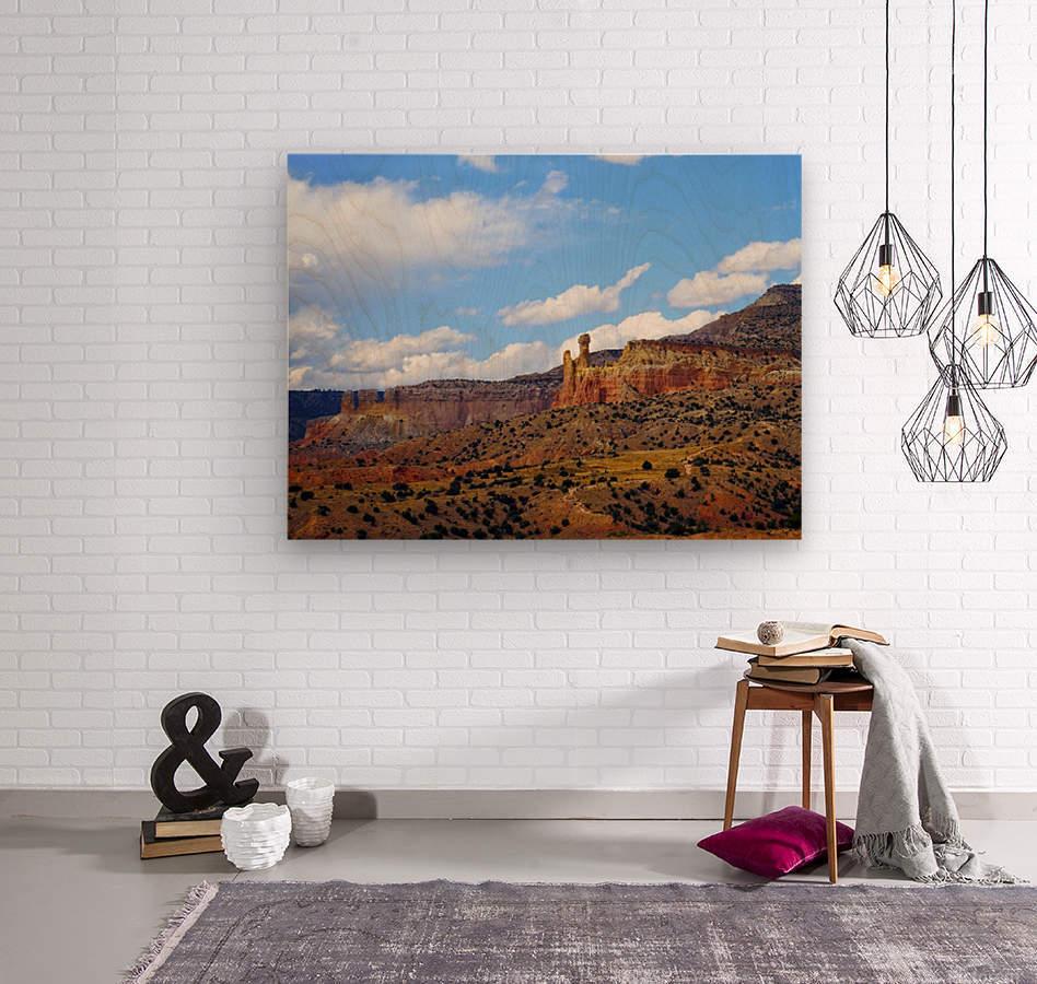 Chimney Rock Ghost Ranch NM   Wood print