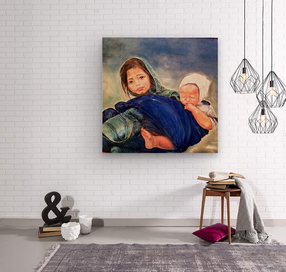 Child raising a Child  Impression sur bois
