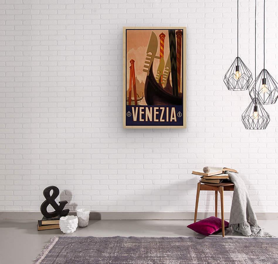 vintage travel travel poster  Wood print