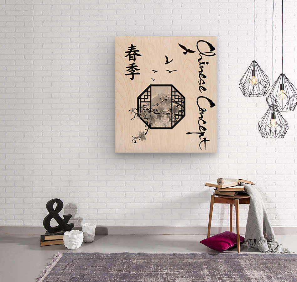 Chinese Concept 35A  Wood print