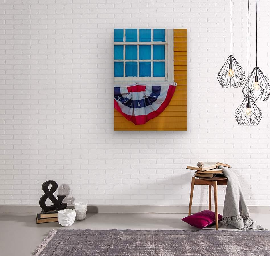 Patriotic Colonial  Wood print