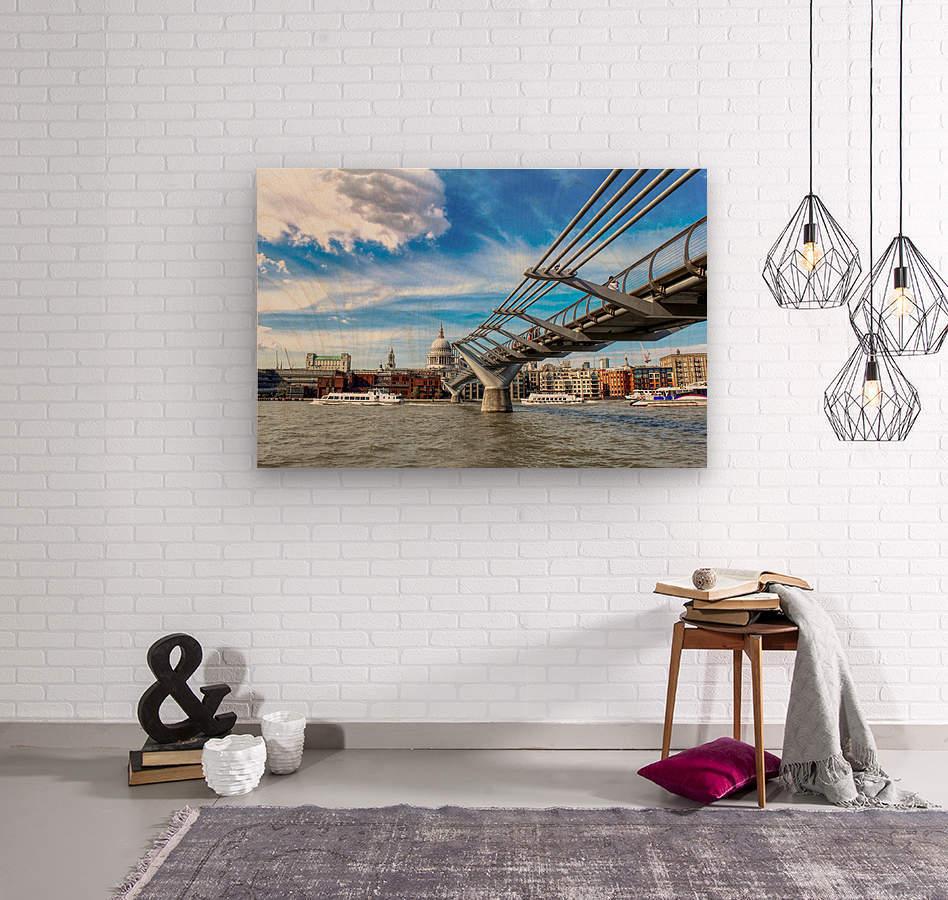 Landscape - London skyline - St Pauls Cathedral  Wood print