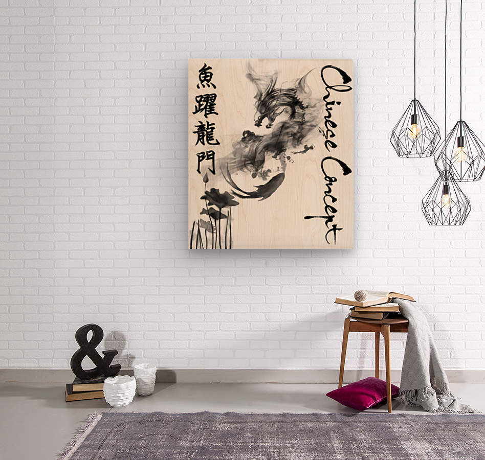 Chinese Concept 46A  Wood print