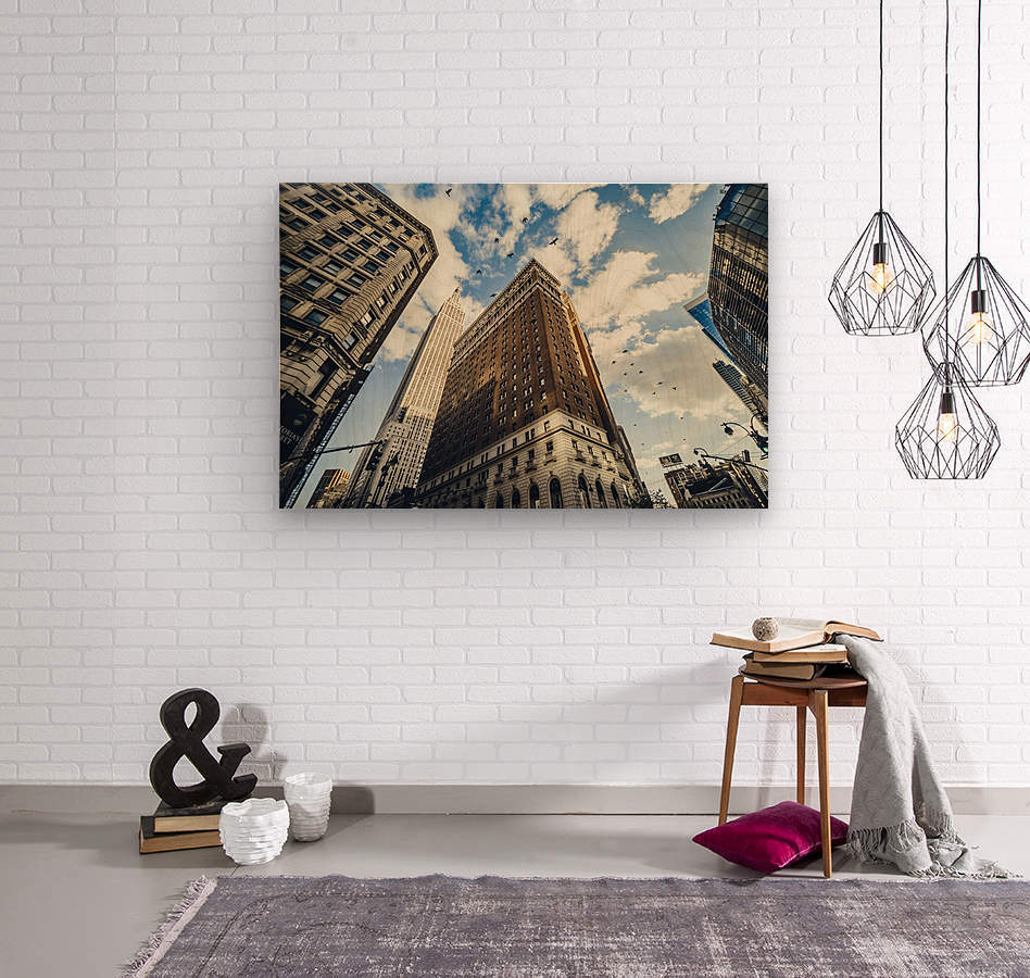 New York Sky  Wood print