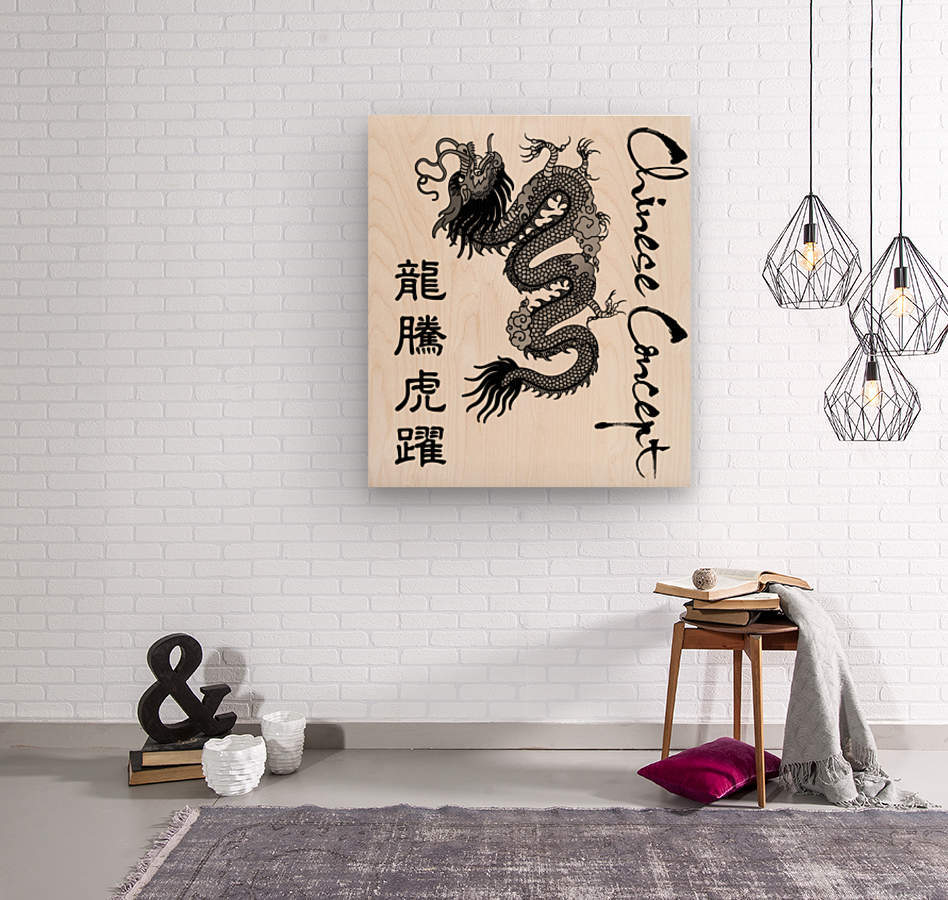 Chinese Concept 50A  Wood print