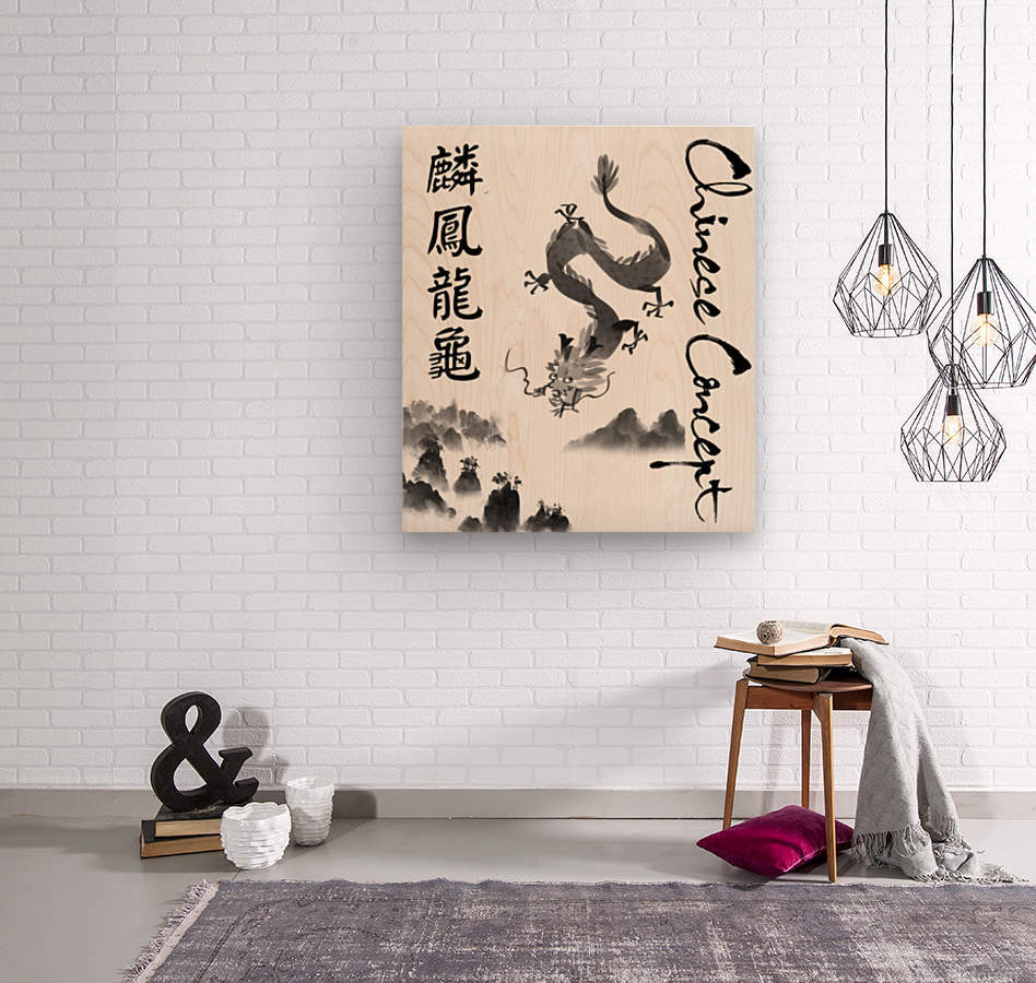 Chinese Concept 52A  Wood print