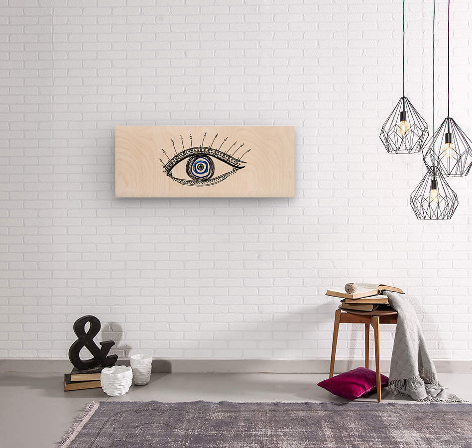 The Eye 20X8  Wood print