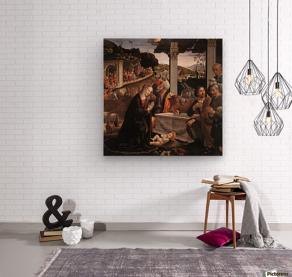 The adoration of the sheperds  Wood print