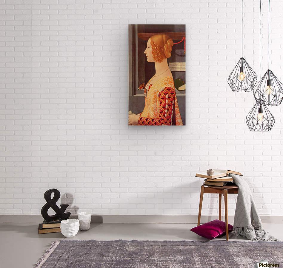 Portrait of Giovana  Wood print