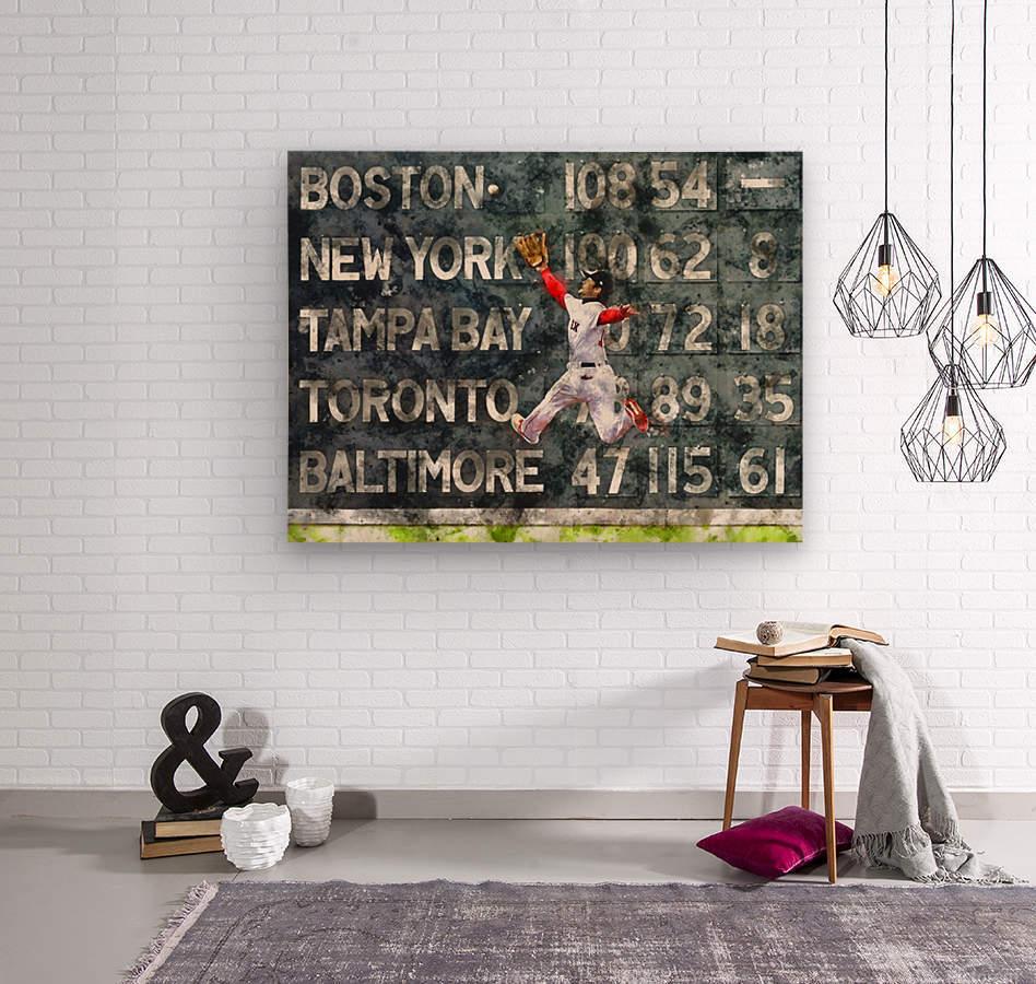 ANDREW BENINTENDI Water Color Print - Boston Red Sox Print  Wood print