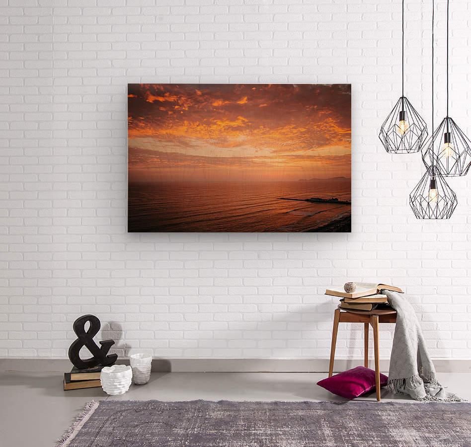 Lima Sunset  Wood print