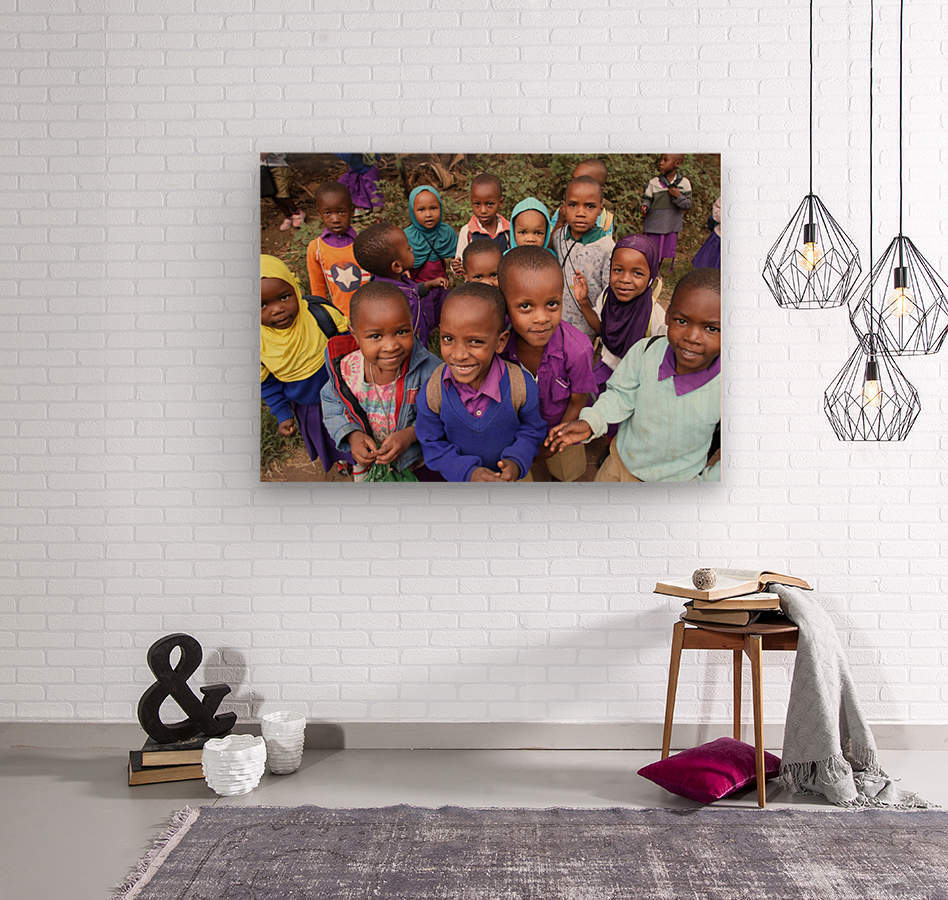 Many Faces of Africa  Wood print