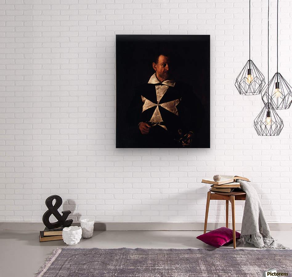 Portrait of a Maltese Knight  Wood print