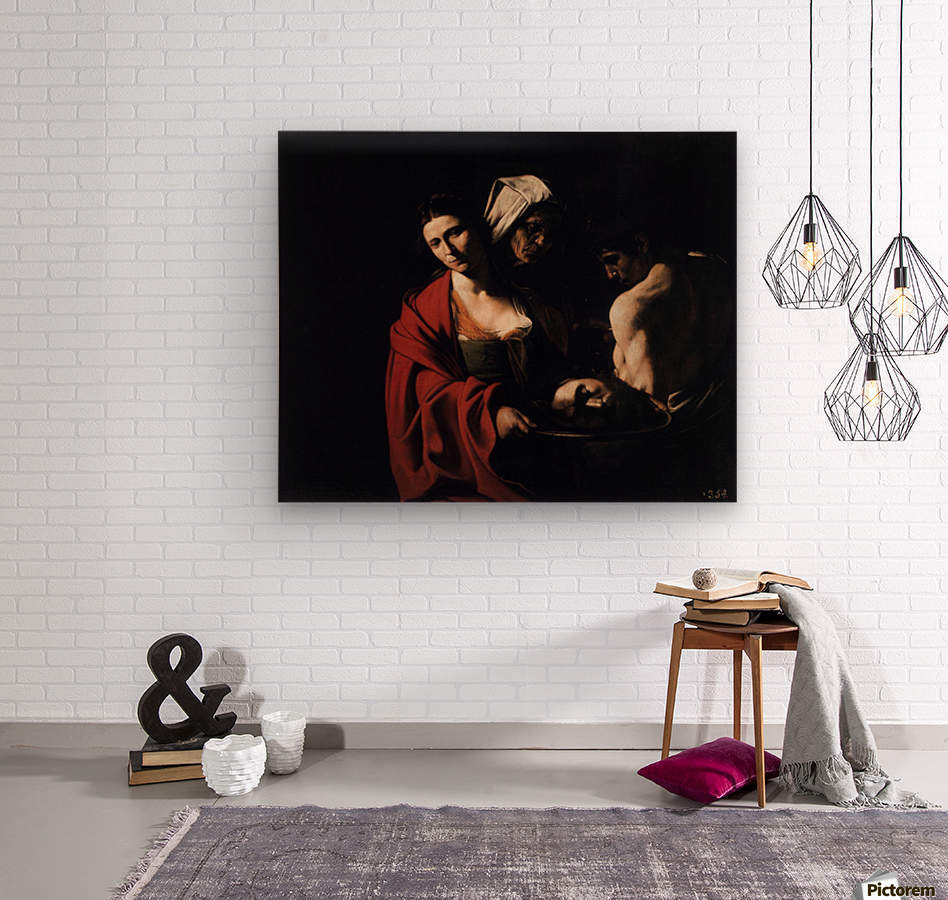 Salome with the head of the Baptist  Wood print