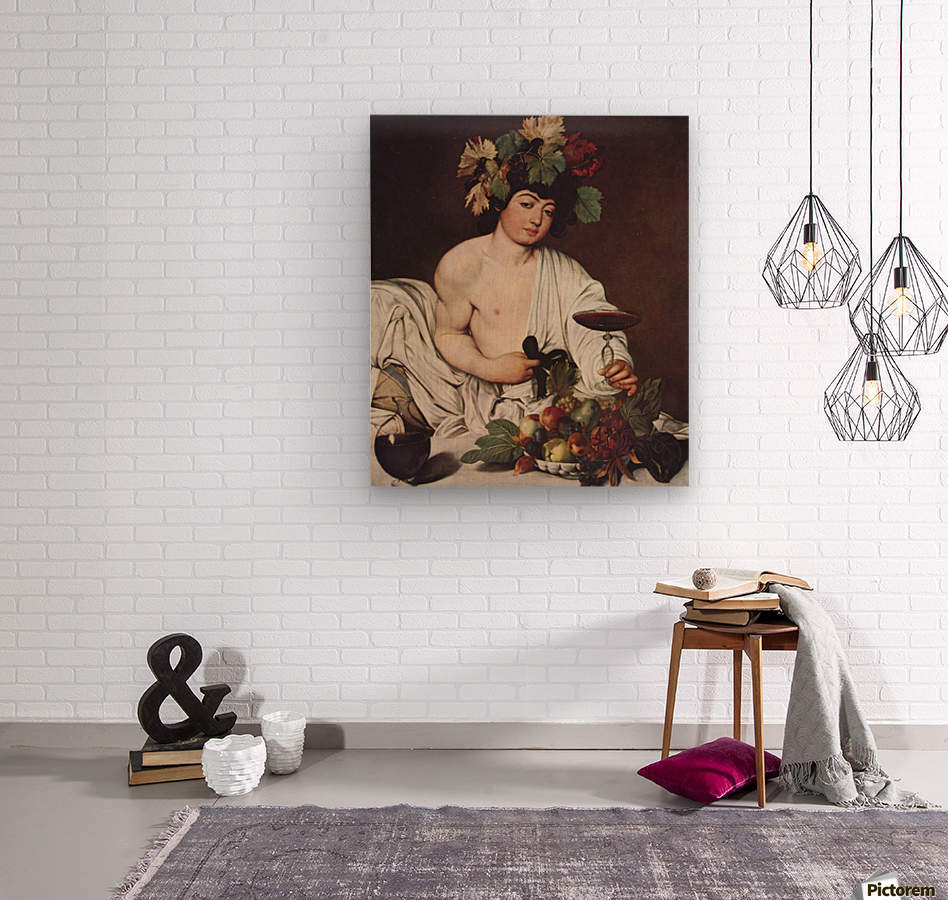 Self portrait Caravaggio  Wood print