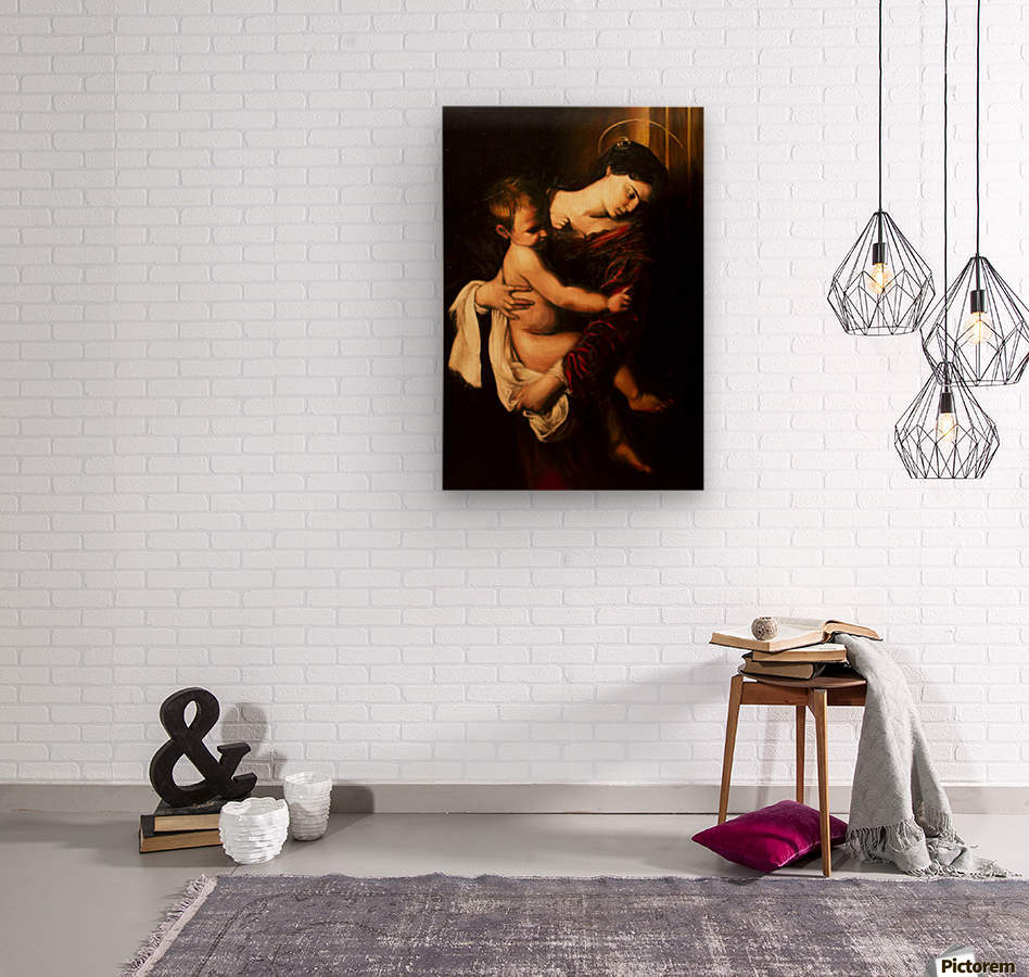 Virgin Mary and Child  Wood print