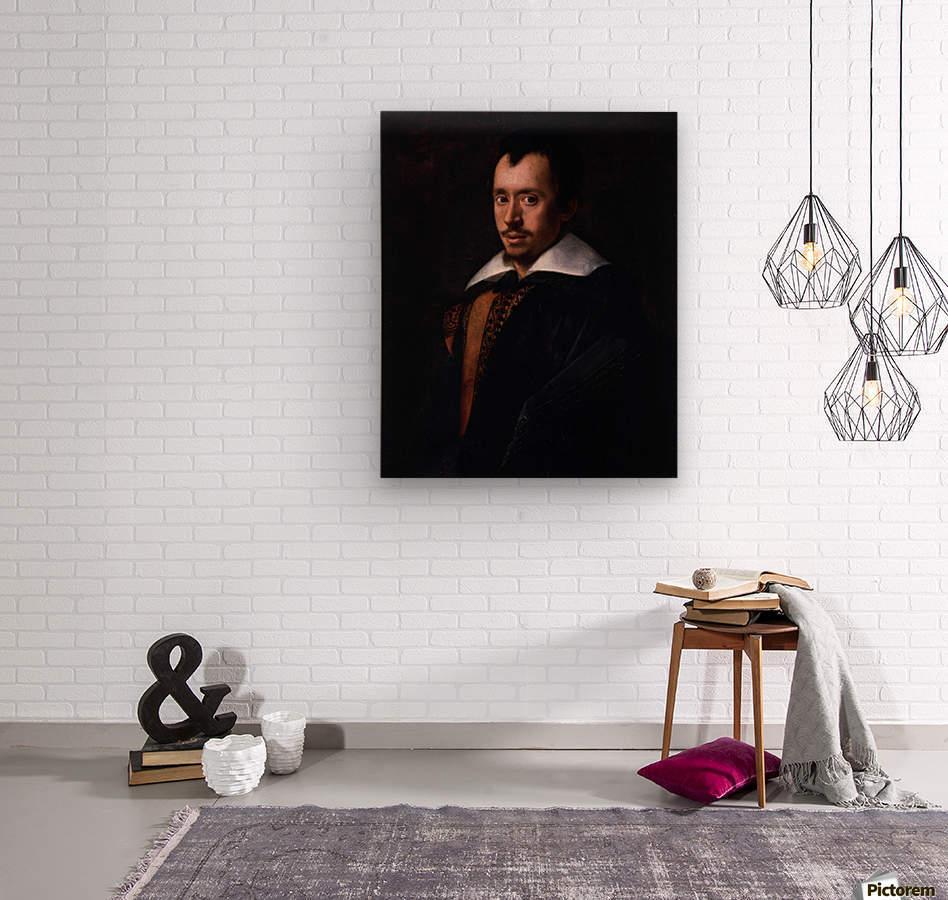 Portrait of the Poet Giambattista Marino  Wood print