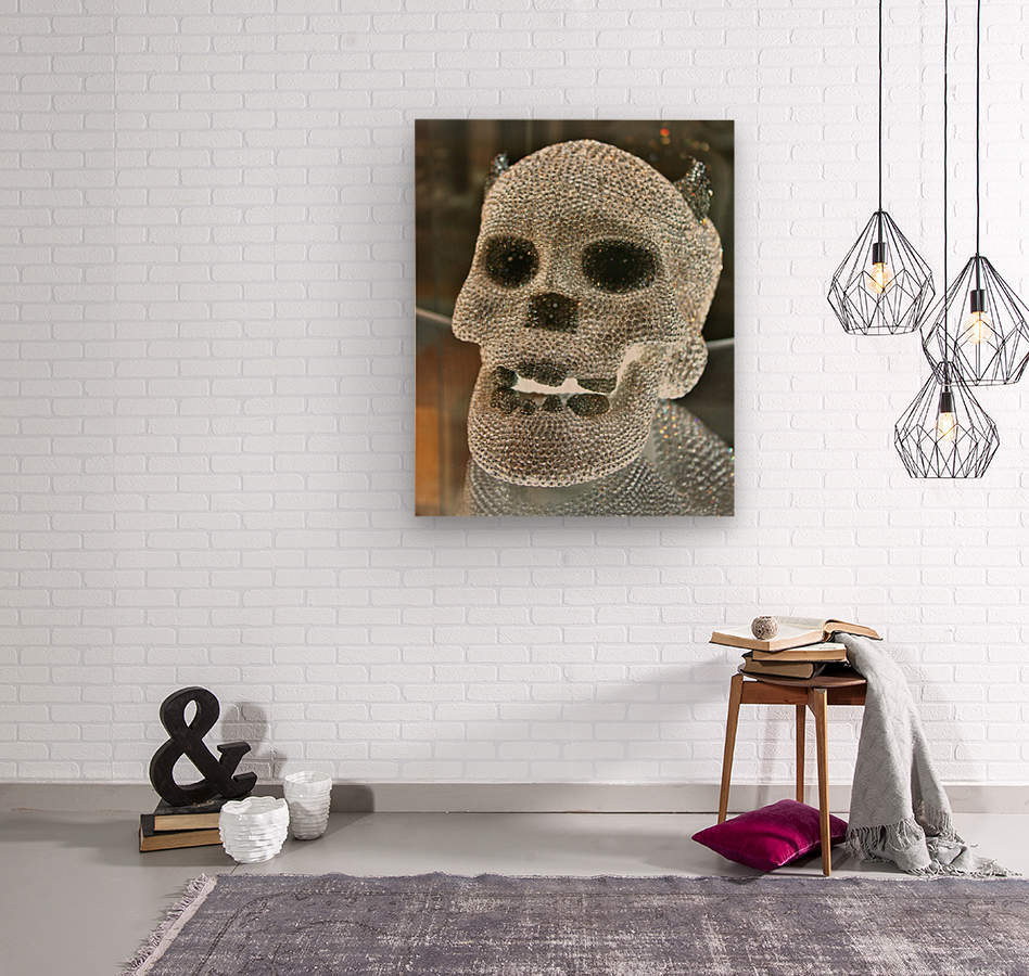 Paris Crystal Skull  Wood print
