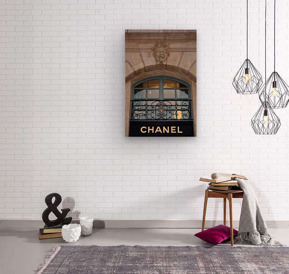 Chanel Paris  Wood print