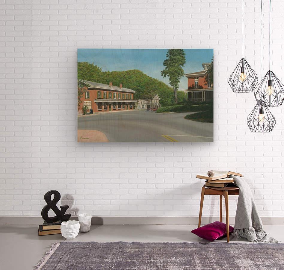 The Brick Store - Newtown Scenes 18 X 26   Wood print