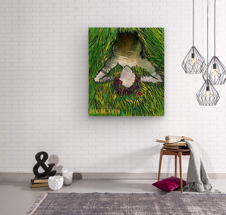 Woman of the Pond  Wood print