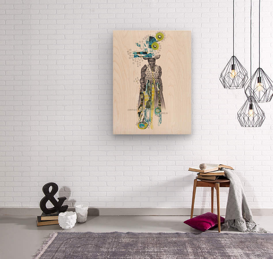 Herero woman 2  Wood print
