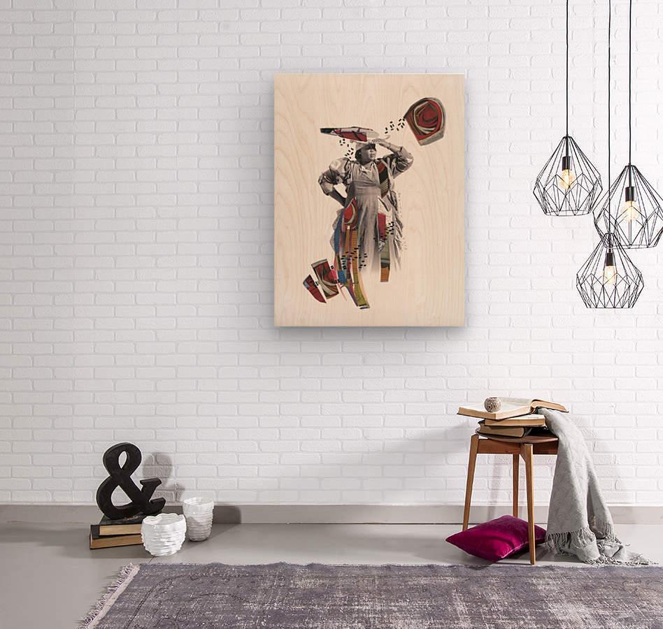 Herero woman 1  Impression sur bois