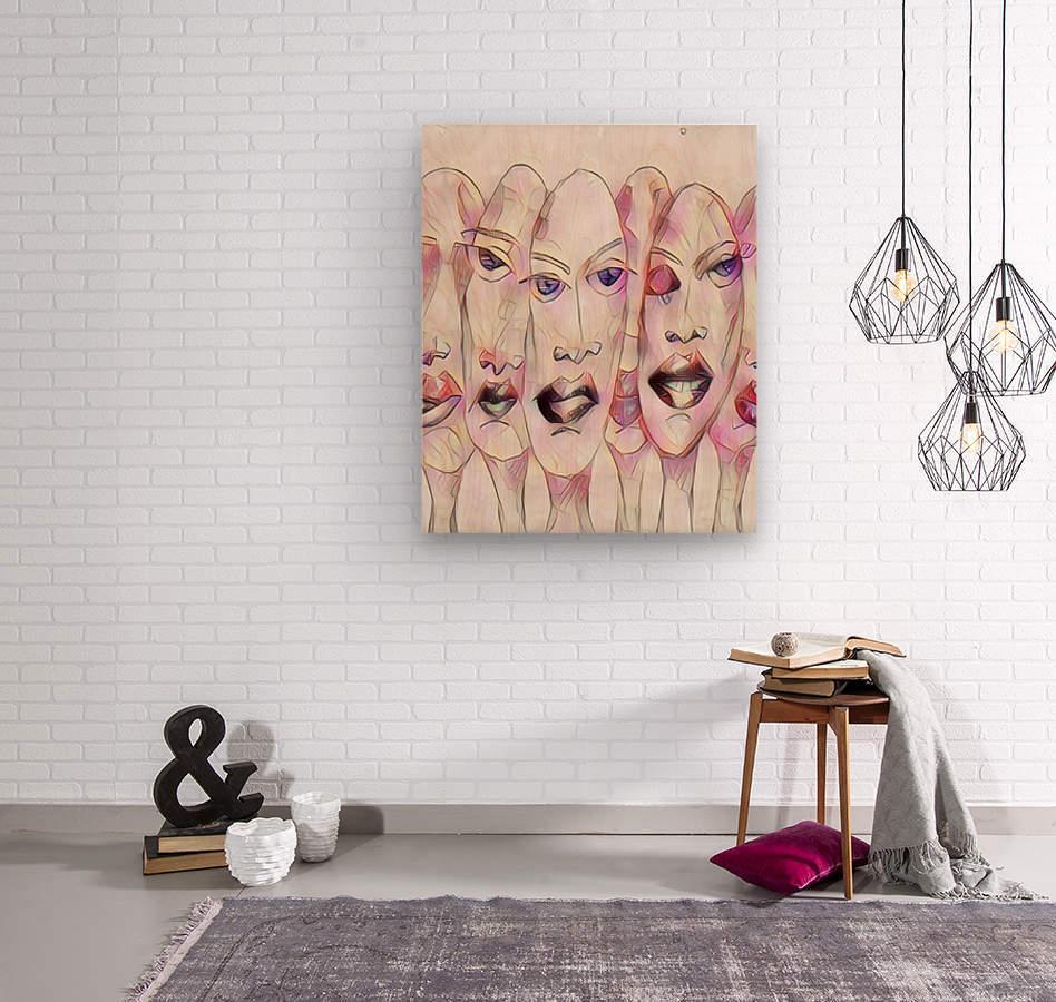 Attitude no.10  Wood print