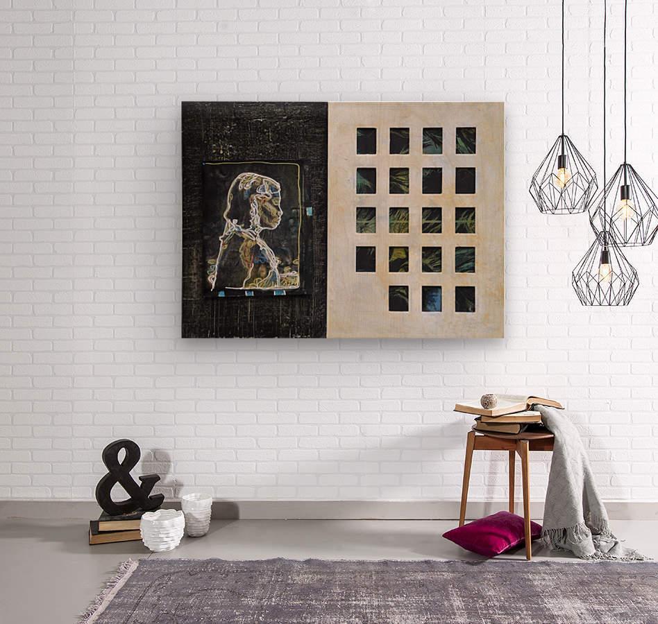 Wired life  Impression sur bois