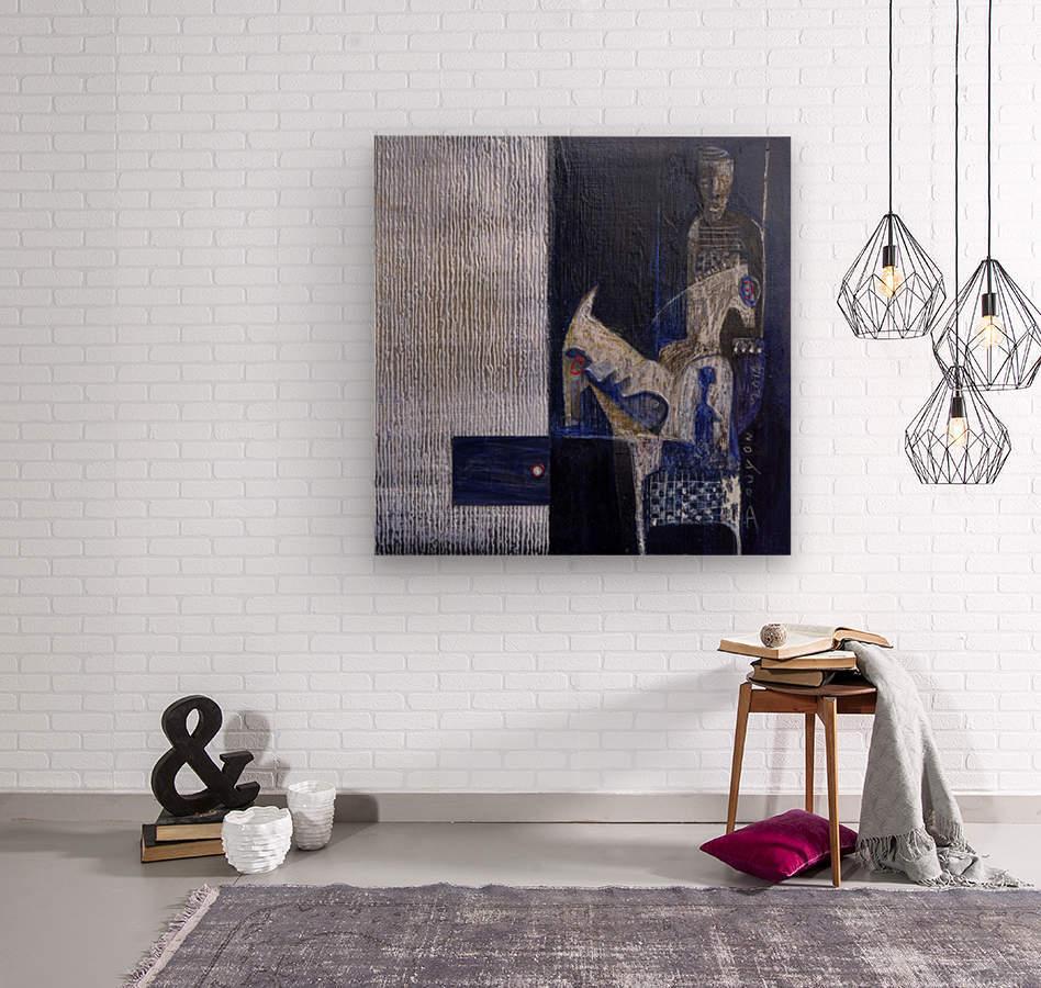 Blue Horserider 1  Impression sur bois
