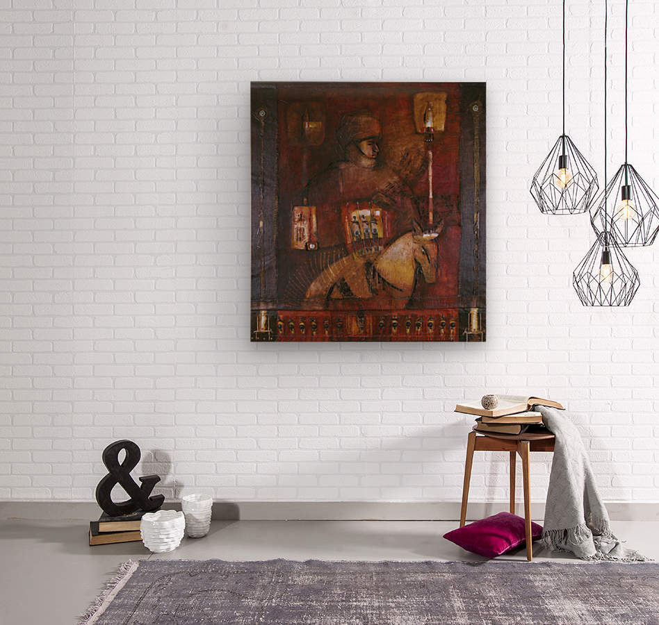Fantasia 1  Impression sur bois