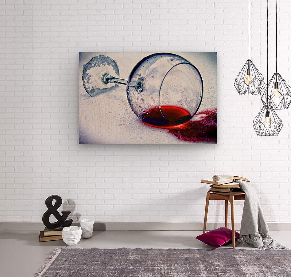 Wine Art 3  Wood print