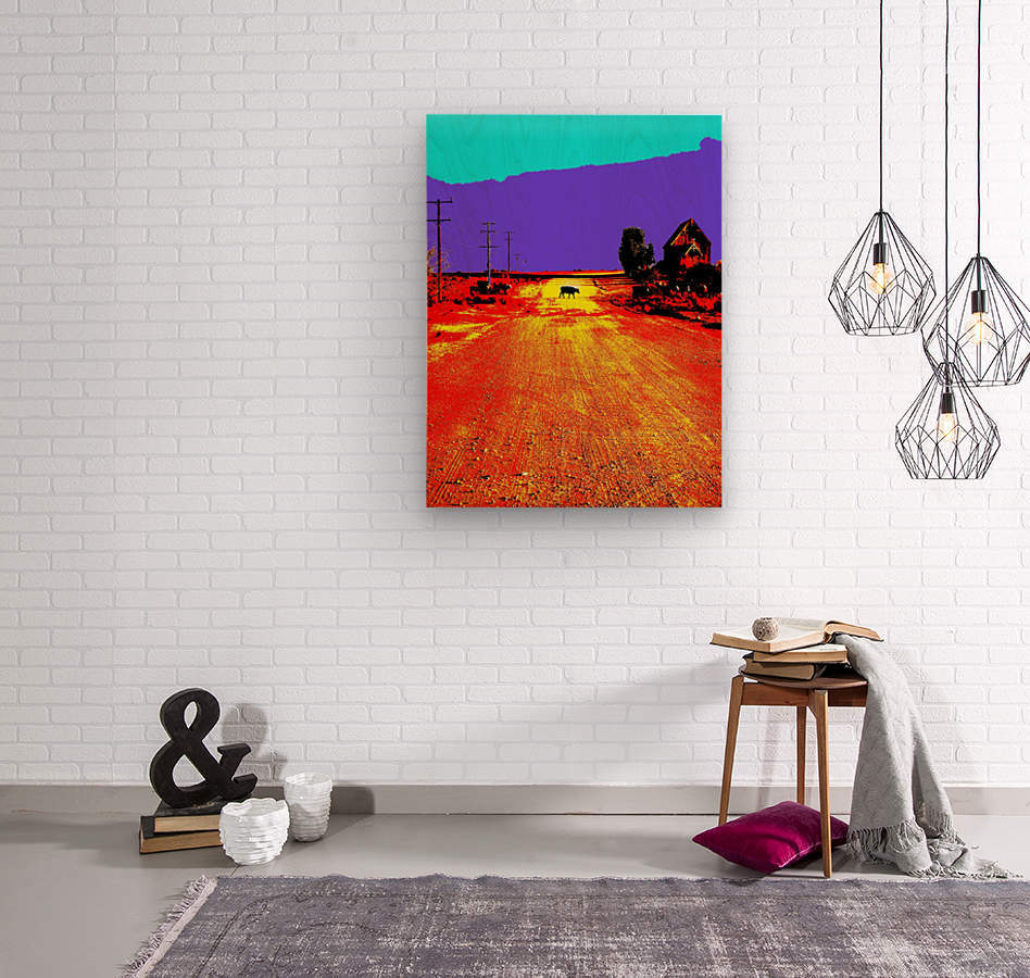 Cows Crossing - Outback Australia  Wood print