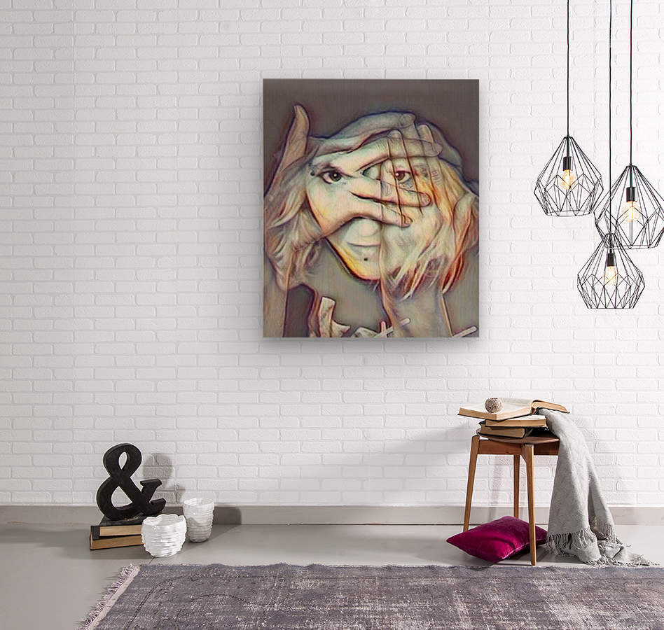 Creative Portrait  Wood print