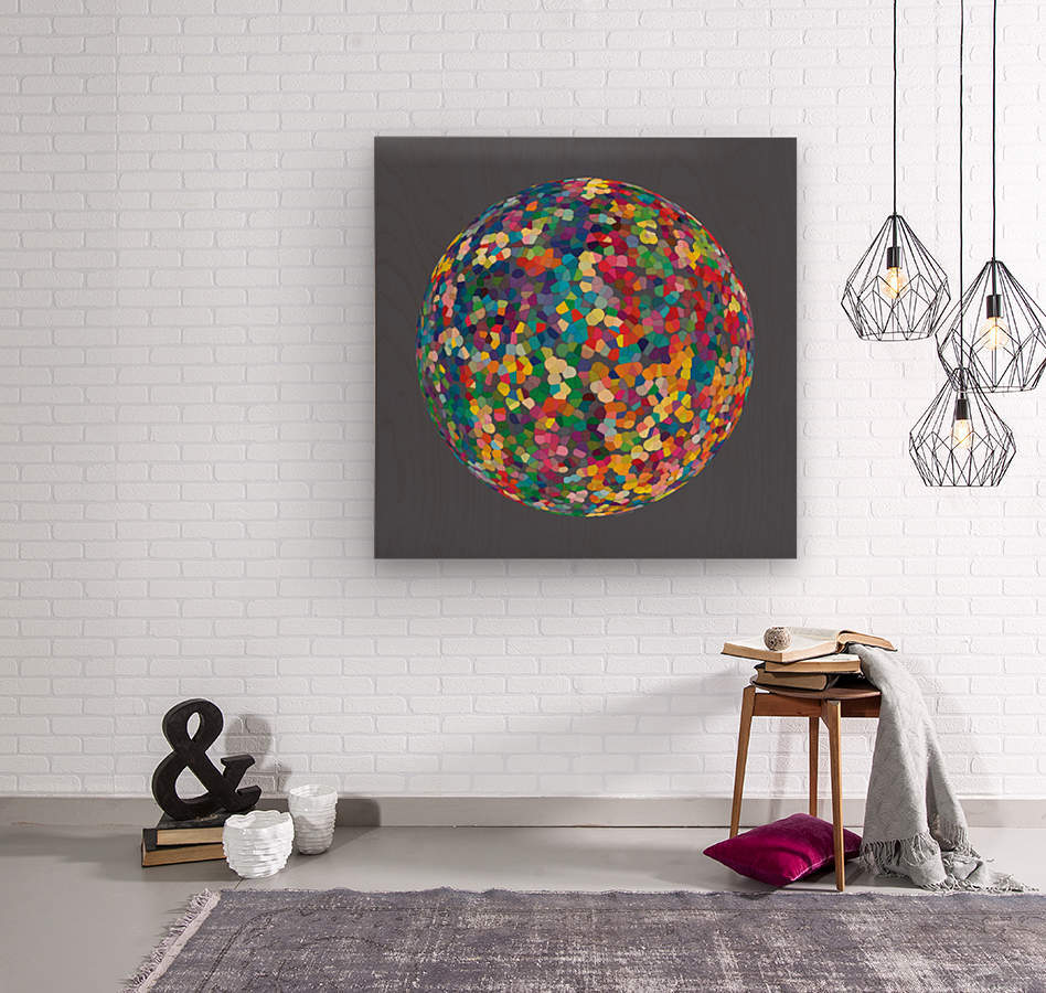 RONDO medium gray  Wood print