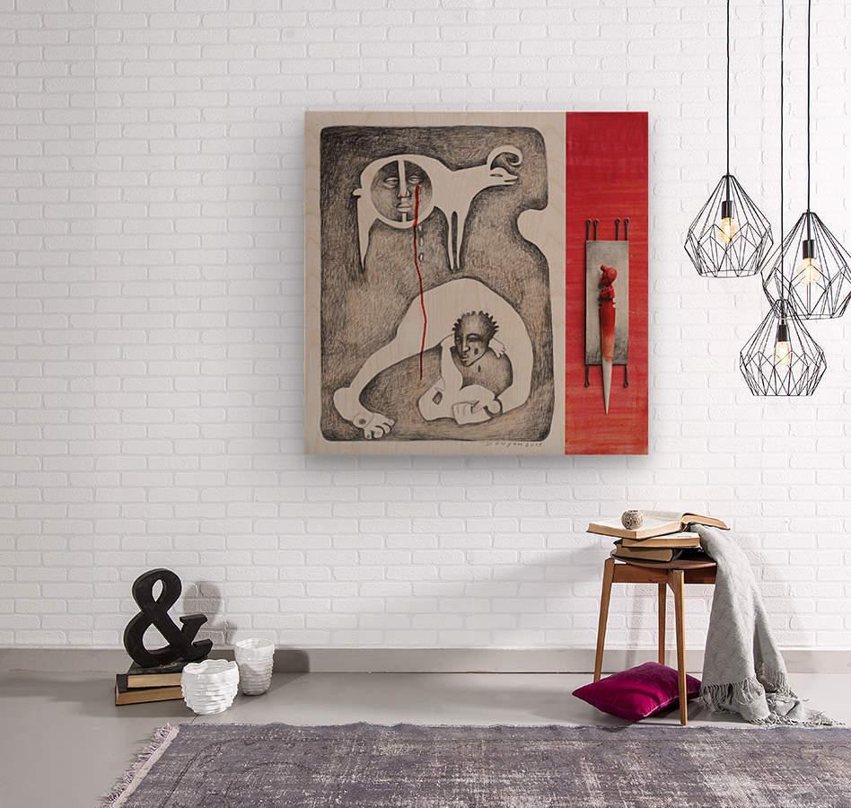 red sacrifice_vermeil  Wood print