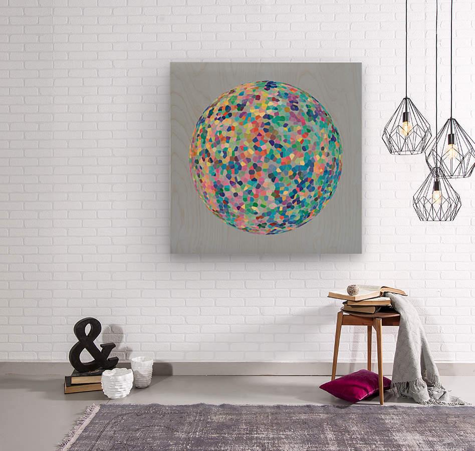 RONDI pastel light blue background  Wood print