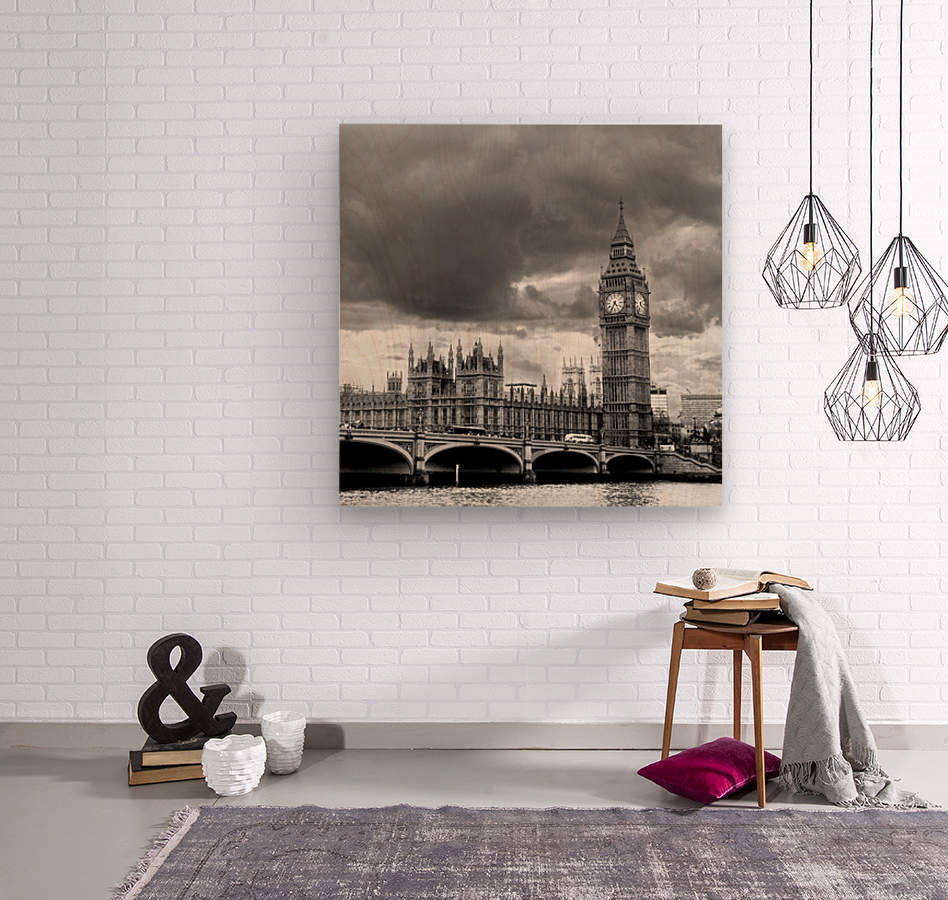 London Frozen in Time  Wood print