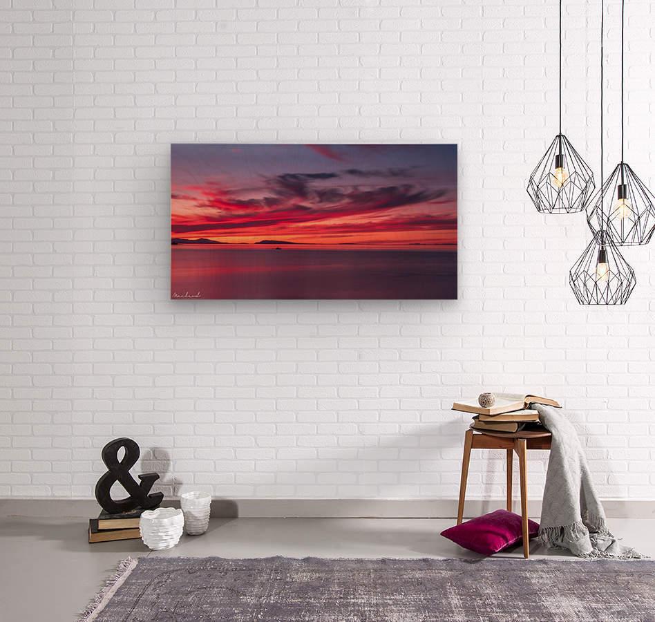 Late summer sunset DSC_3498  Wood print