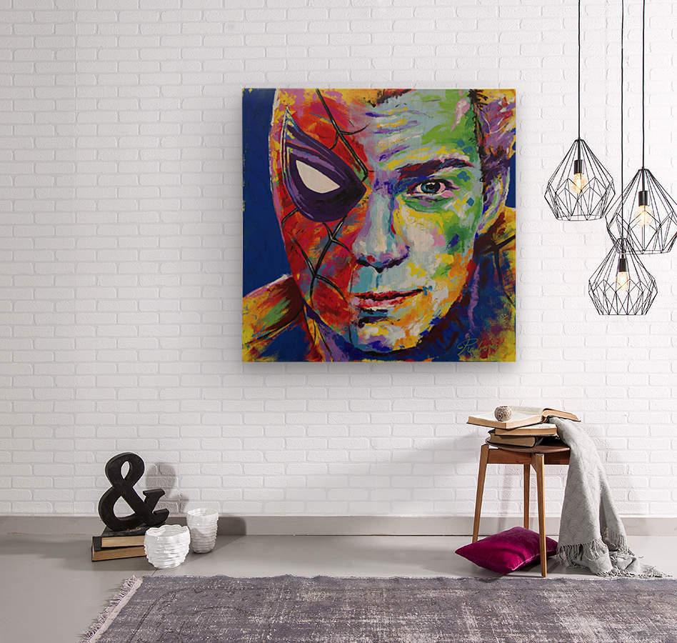 Spiderman_Portrait Art - Tadaomi -  Wood print