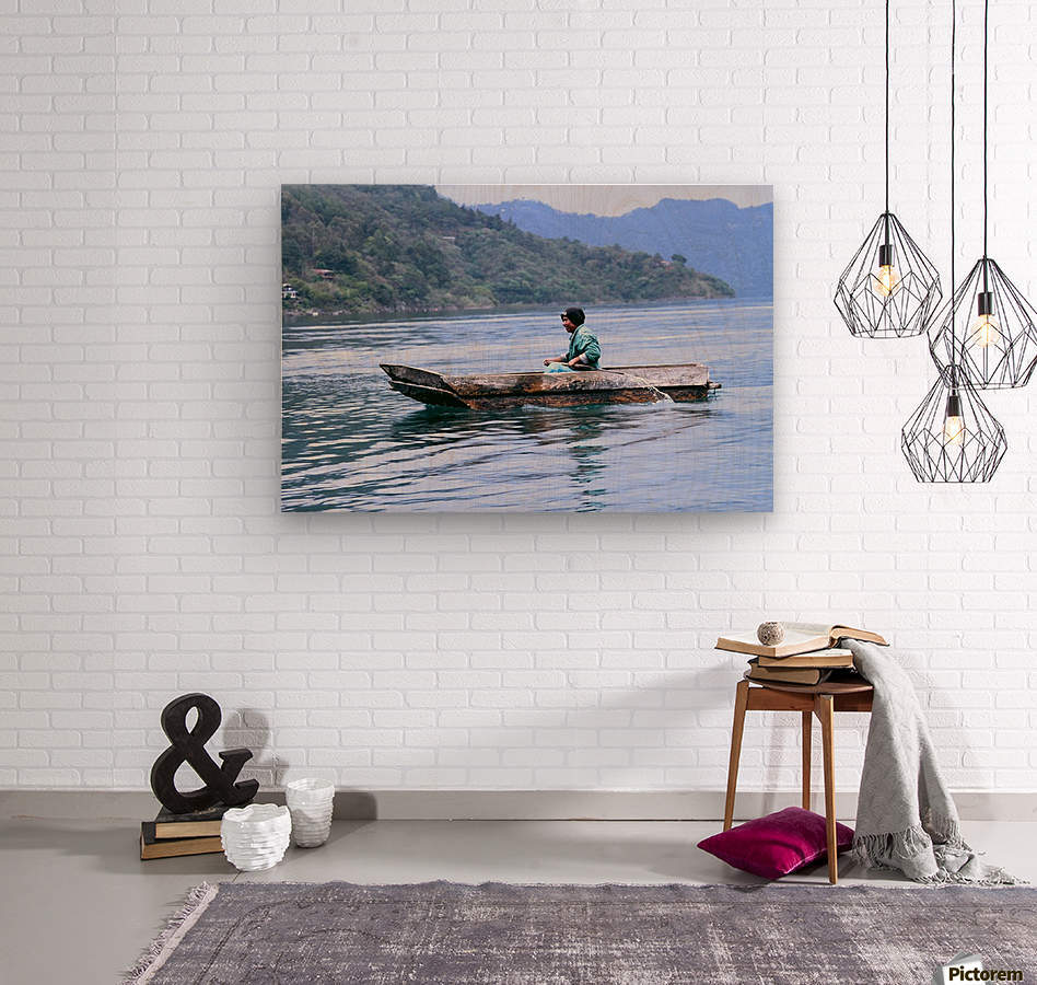 En Lago de Atitlan, Guatemala  Wood print