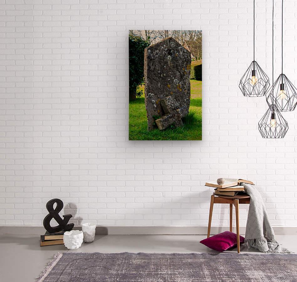 Tombstone  Wood print