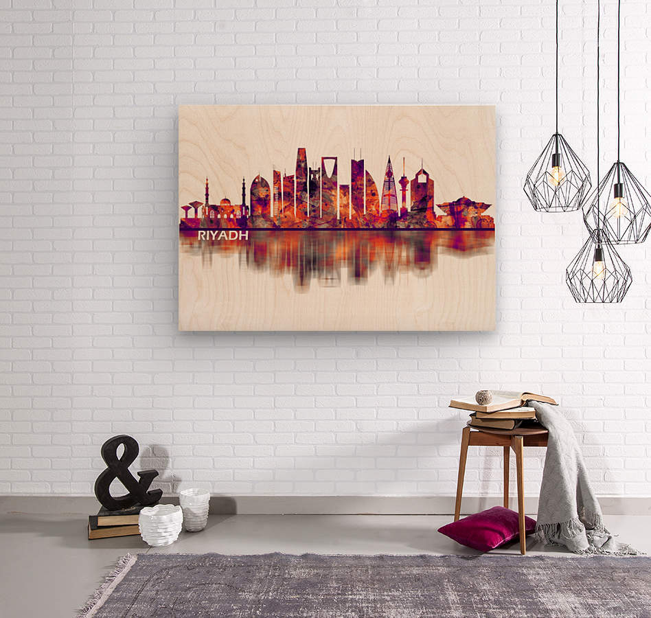 Riyadh Saudi Arabia Skyline  Wood print