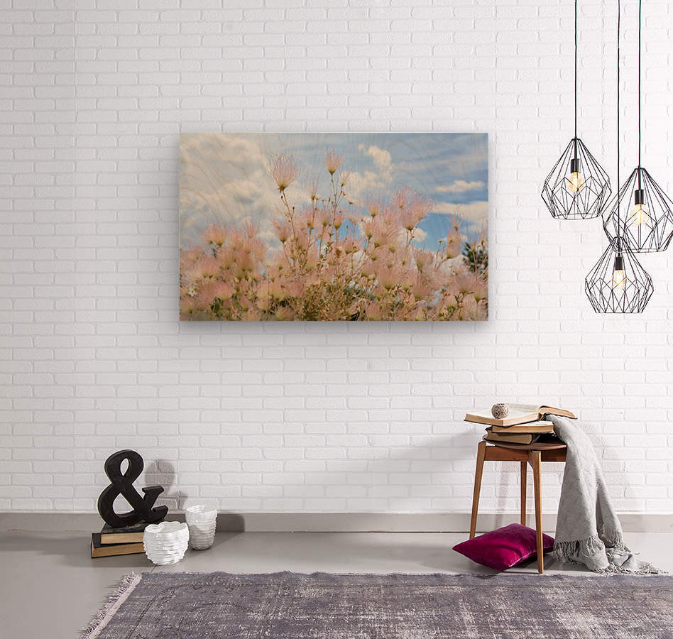 Pink Flora New Mexico Photograph  Wood print